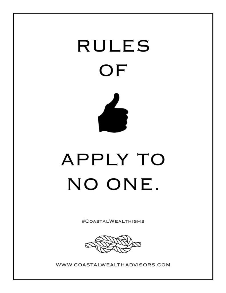Rules of thumb apply to no one.
